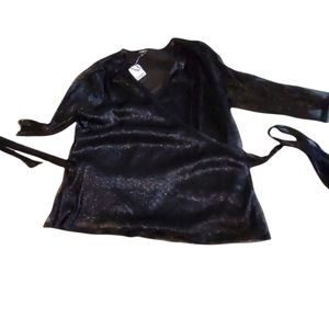 2/$25 NWT Le Chateau Black Wrap Top XXL